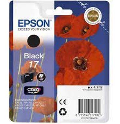 Зображення Картридж Epson 17 XP103/203/207 black
