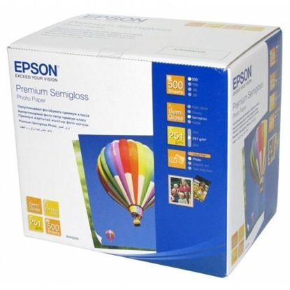 Зображення Бумага Epson 100mmx150mm Premium Semiglossy Photo Paper