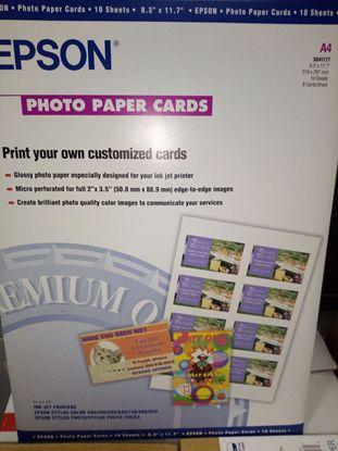 Зображення Бумага Epson А4 Photo Paper Card