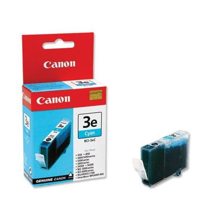 Изображение Картридж Canon BCI-3eС Cyan  для BJC-3000/6000/6100/6200/6500, BJ-i550/i850/i6500, S400/450/4500/500/520/600/630/6300/750, SmartBase MPC400/600F/MP700Photo/MP730