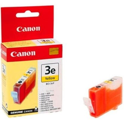 Изображение Картридж Canon BCI-3eY Yellow для BJC-3000/6000/6100/6200/6500, BJ-i550/i850/i6500, S400/450/4500/500/520/600/630/6300/750, SmartBase MPC400/600F/MP700Photo/MP730