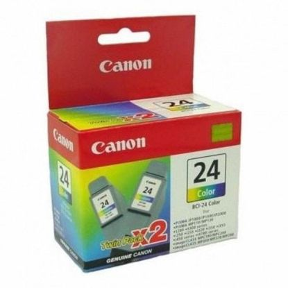 Изображение Картридж Canon BCI-24 color  (twin pack) для S200/200х/300/330Photo, i250/i320/i350/i450/i455/475D, SmartBase 190/200/MP360/370/390, PIXMA iP1000/iP1500/iP2000, PIXMA MP110/MP13