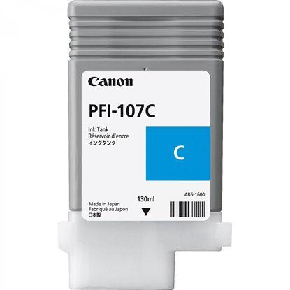 Изображение Картридж голубой (на основе водорастворимых чернил) PFI-107 cyan (iPF680, iPF685, iPF780 и iPF785), 130 ml