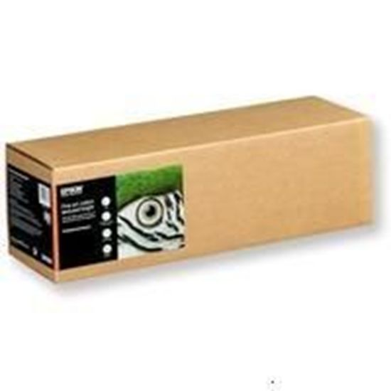 "Зображення Бумага Epson Fine Art Cotton Textured Bright 17 ""x15m, 300 г / м², матовый, односторонний, 100% хлопок, яркость 95%"