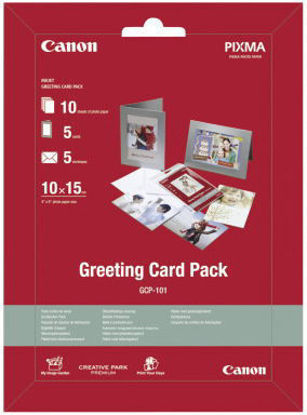 Изображение Набір CANON Greeting Card Pack GCP-101 фотопапір (170гр./м2) 10 арк. + 5 фоторамок + 5 конвертів